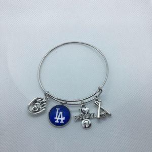 Los Angeles Dodgers Baseball Bracelet